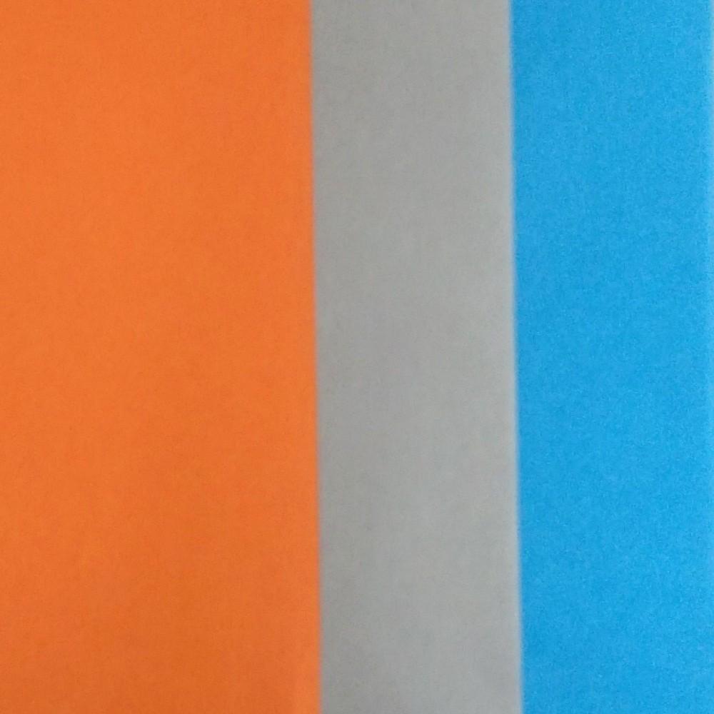 Image of 3 Step Striped Tissue Paper Orange/ Blue - Spritz