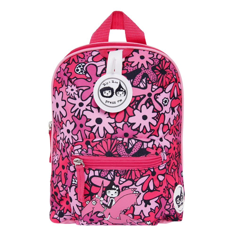 """Image of """"Zip & Zoe Mini 10"""""""" Kids' Backpack & Safety Harness - Floral Pink, Kids Unisex, Size: Small"""""""