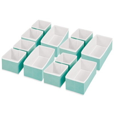 mDesign Fabric Dresser Drawer, Closet Storage