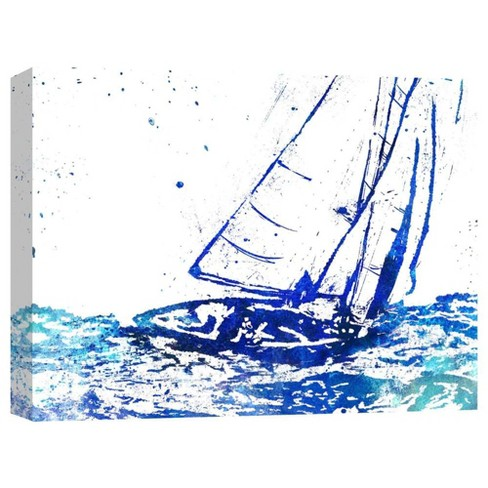 "Sailing Decorative Canvas Wall Art 11""x14"" - PTM Images - image 1 of 1"