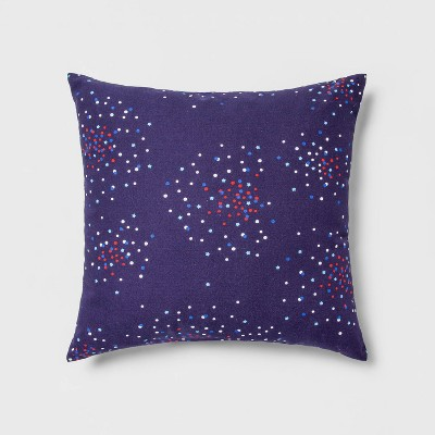 Indoor/Outdoor Fireworks Square Throw Pillow Navy - Sun Squad™