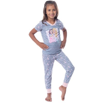 Barbie Girls' Unicorn Barbie Skipper Shirt And Pants Jogger Pajama Set