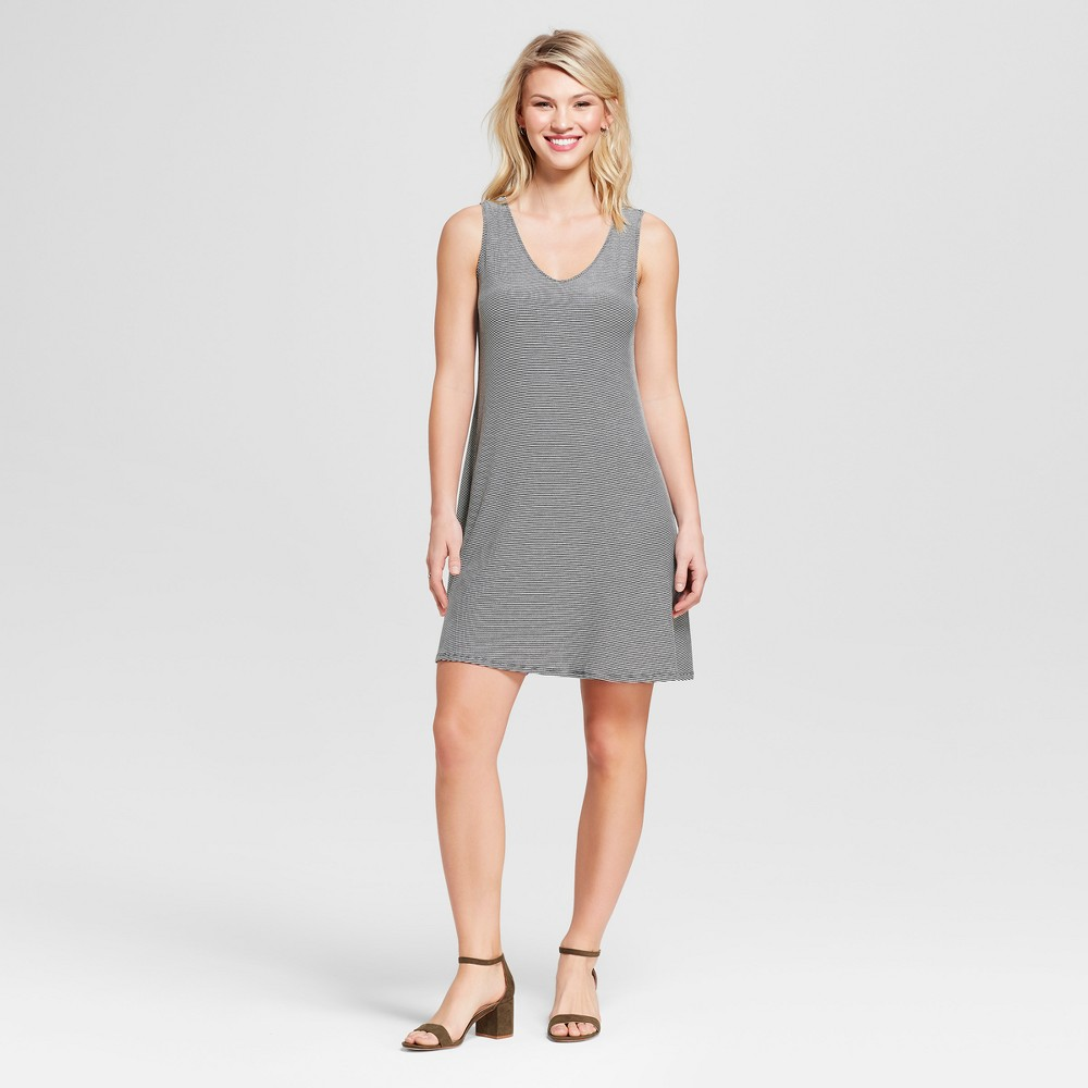 Women's Striped Tie Back Dress - Soul Cake (Juniors') Black M, Size: Small was $24.98 now $11.24 (55.0% off)