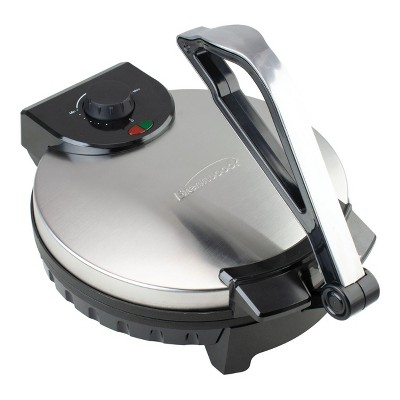 Brentwood 12 Inch Stainless Steel Nonstick Electric Tortilla Maker