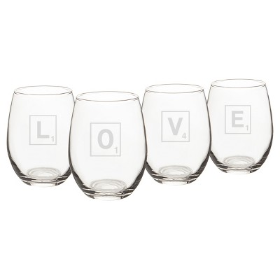 4ct Love Letter Stemless Wine Glass