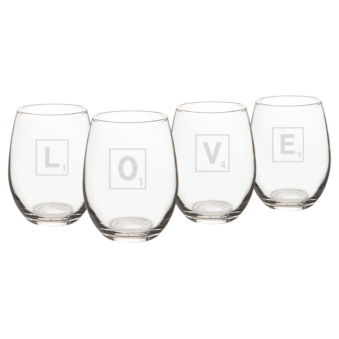 4ct Love Letter Stemless Wine Glass - image 1 of 4