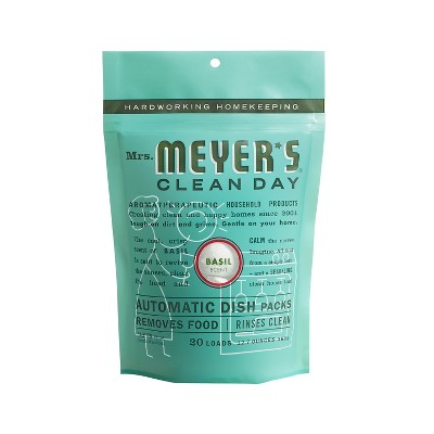 Mrs. Meyer's® Basil Automatic Diswasher Detergent Packs - 20ct