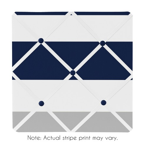 "Navy Decorative Wall Art (15""x15"") - Sweet Jojo Designs® - image 1 of 2"