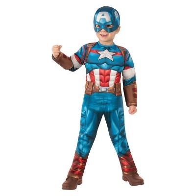 Toddler Marvel Captain America Halloween Costume Jumpsuit