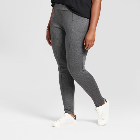 9e9a3a2349569 Women s Plus Size Pull On Herringbone Ponte Pants -   Target