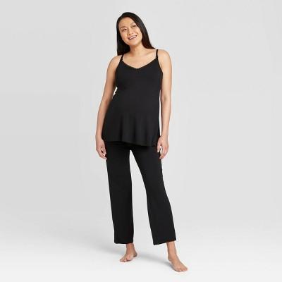 Maternity Drop Cup Nursing Cami/Pajama Set - Isabel Maternity by Ingrid & Isabel™ Black