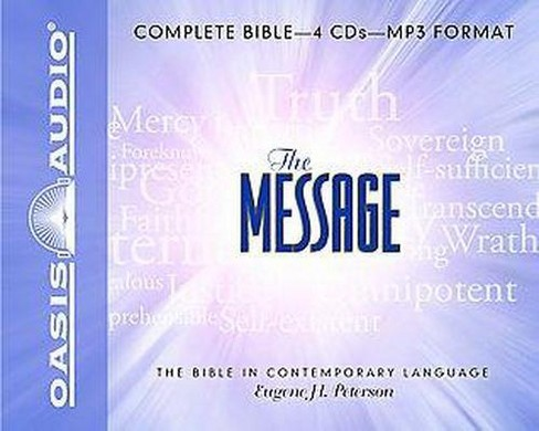 Message : The Bible in Contemporary Language (Unabridged) (MP3-CD) (Eugene H. Peterson) - image 1 of 1