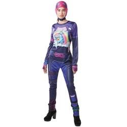 Rubie's Fortnite Brite Bomber Tween Costume Jumpsuit With Cap & Accessories