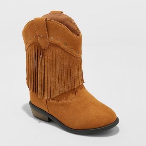Toddler Girls' Mahogany Western Boots - Genuine Kids® from OshKosh Cognac 8 - image 1 of 3
