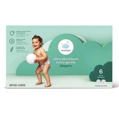 Club Pack Diapers - Size 6 (66ct)- Cloud Island™