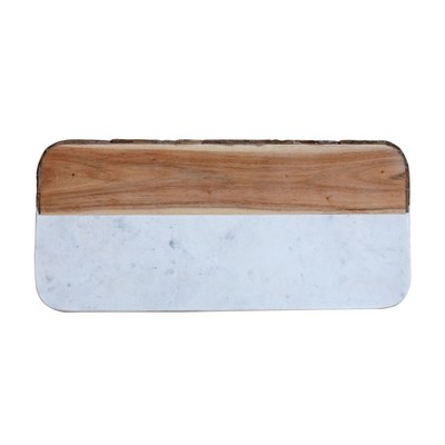 White Marble & Mango Wood Cheese Board - 3R Studios