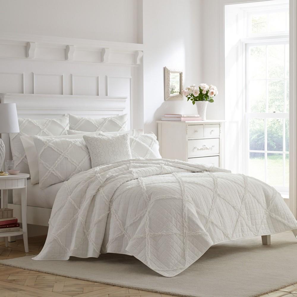 Image of King White Maisy Quilt Set - Laura Ashley
