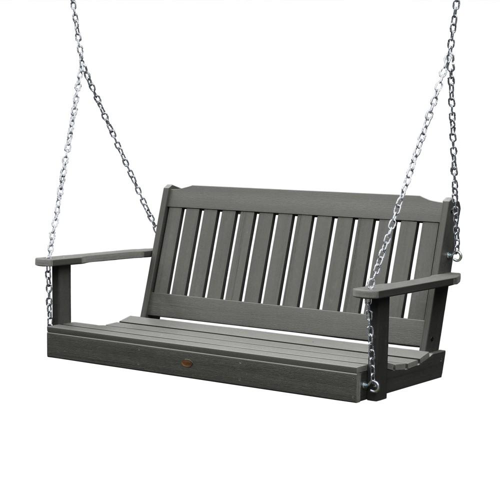 Lehigh Porch Swing 5ft Coastal Teak Gray- Highwood, Coastal Teak Gray