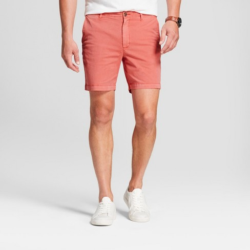 """Men's 7"""" Linden Flat Front Chino Shorts - Goodfellow & Co™ Dusky Pink 36 - image 1 of 3"""