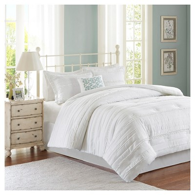 Alexis Comforter Set (King)White - 5pc