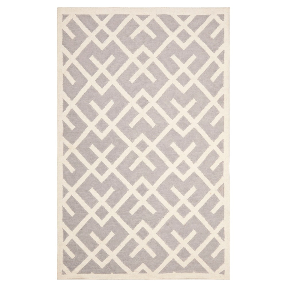 Tangier Dhurry Area Rug - Gray/Ivory (9'x12') - Safavieh