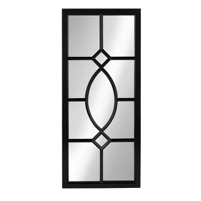 "13"" x 30"" Cassat Framed Wall Accent Mirror Black - Kate and Laurel"