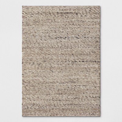 Chunky Knit Wool Woven Rug 5'X7' Cream - Project 62™