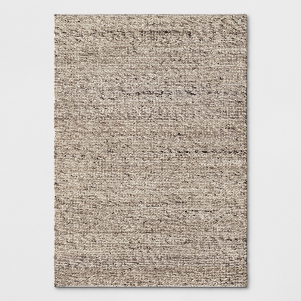 Chunky Knit Wool Woven Rug 5'X7' Cream (Ivory) - Project 62