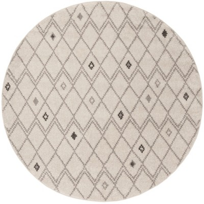 Ivory Gray Geometric Loomed Round Area Rug 6 Safavieh Target