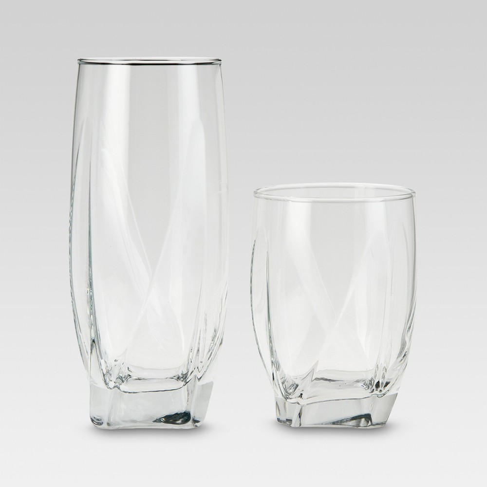 Image of 12pc Glass Ridley Assorted Tumblers - Threshold , Clear