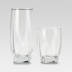 12pc Glass Ridley Assorted Tumblers - Threshold™
