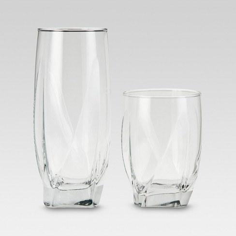 12pc Glass Ridley Assorted Tumblers - Threshold™ - image 1 of 2