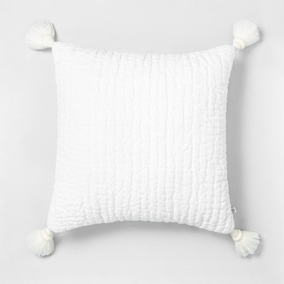 18x18 Tassel Pillow Sour Cream - Hearth & Hand™ with Magnolia