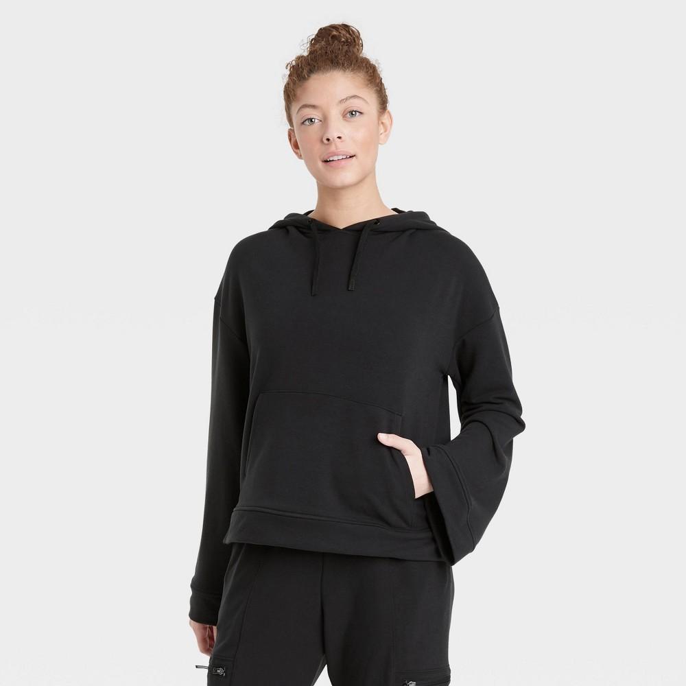 Women 39 S Bell Sleeve Hooded Sweatshirt All In Motion 8482 Black Xs