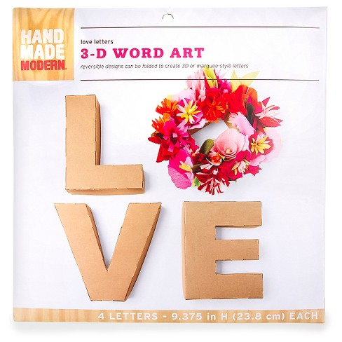Hand Made Modern Love Letters 3-D Word Art - image 1 of 2