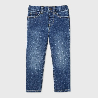 Toddler Girls' Heart Skinny Jeans - Cat & Jack™ Medium Wash