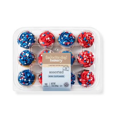 Patriotic Assorted Mini Cupcakes - 12ct - Favorite Day™