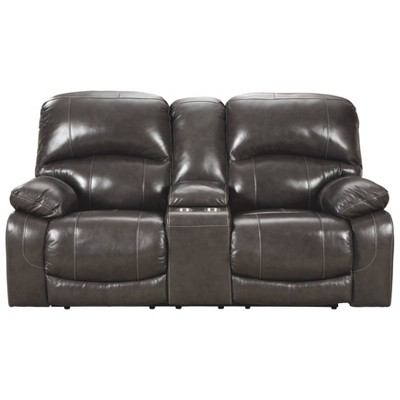 Hallstrung Power Reclining Loveseat with Console/Adjustable Headrest - Signature Design by Ashley
