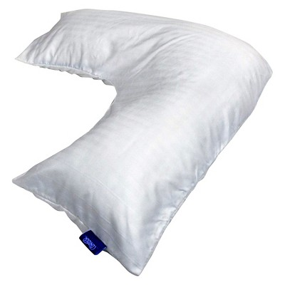 Contour Products L Shaped Pillow Cover - White (Standard)