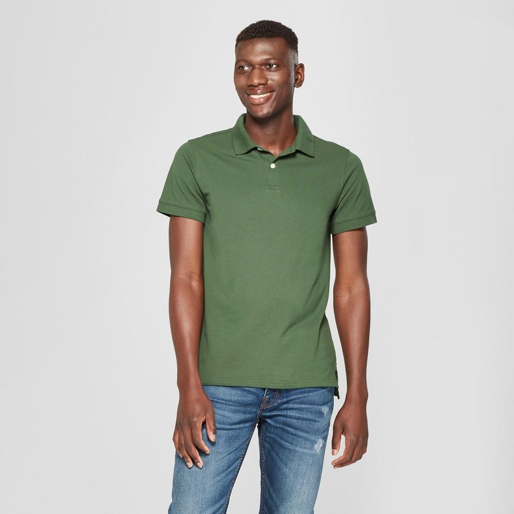 Men's Short Sleeve Slim Fit Loring Polo Shirt - Goodfellow & Co Banyan Tree Green 2XL