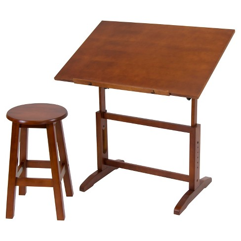 Creative Table and Stool Set - Walnut - image 1 of 3