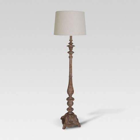 Turned Polywood Double Socket Floor Lamp Threshold