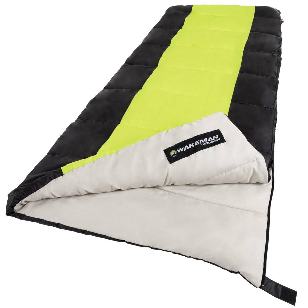 Wakeman 2 Season 50 Degrees Fahrenheit Adult Sleeping Bags Neon Green