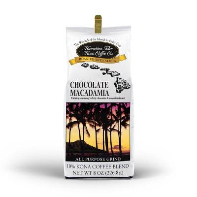 Hawaiian Isles Chocolate Macadamia Medium Roast Ground Coffee - 8oz