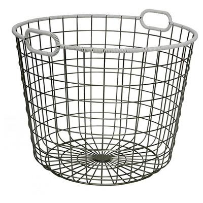 Wire Floor Basket - White - Room Essentials™