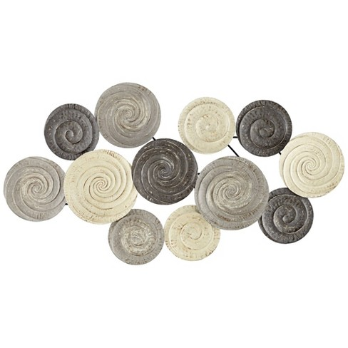"""Newhill Designs Spiral Circles 49 1/2"""" Wide Painted Metal Wall Art - image 1 of 4"""