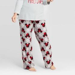 Women's Holiday Mickey Mouse Fleece Pajama Pants - Gray