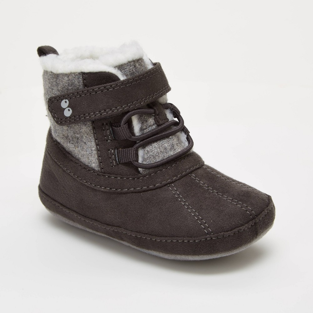 Image of Baby Boys' Surprize by Stride Rite Dean Mini Boots - Grey 12-18M, Boy's, Gray