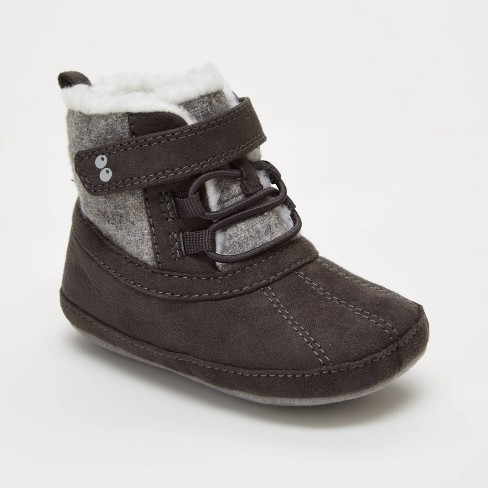 Baby Boys' Surprize by Stride Rite Dean Mini Boots - Gray - image 1 of 4