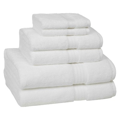 KassaDesign 6pc Towel Set - White